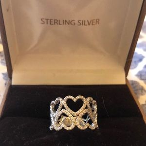 Sterling silver ❤️❤️ heart ring size 7